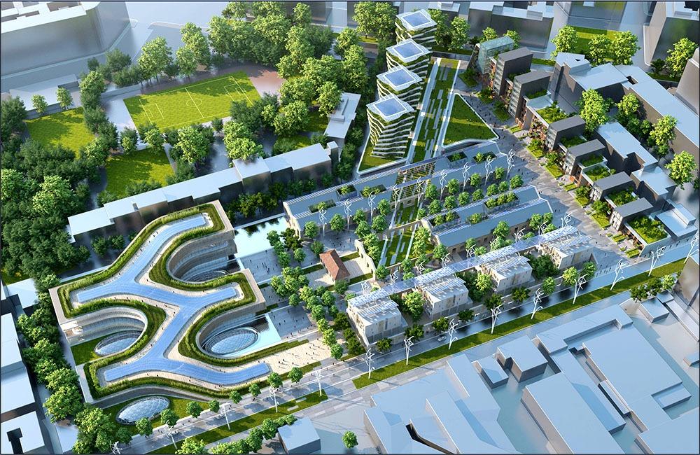 Thiết kế cảnh quan khu đô thị Città della Scienza