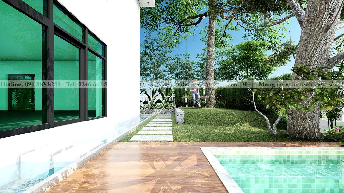 Thiết kế sân vườn anh Việt Ecopark